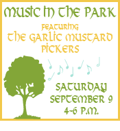 Join us for music in the park with The Garlic Mustard Pickers!